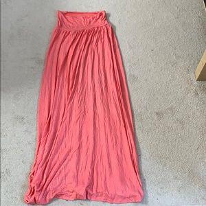 Long coral skirt
